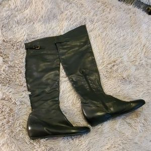 Beautiful over the knee black leather Aldo boots